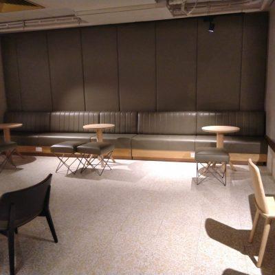 Starbucks bench & Wall Panels